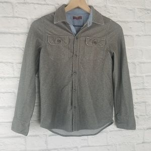 7 for All Mankind| Gray Button Down Shirt
